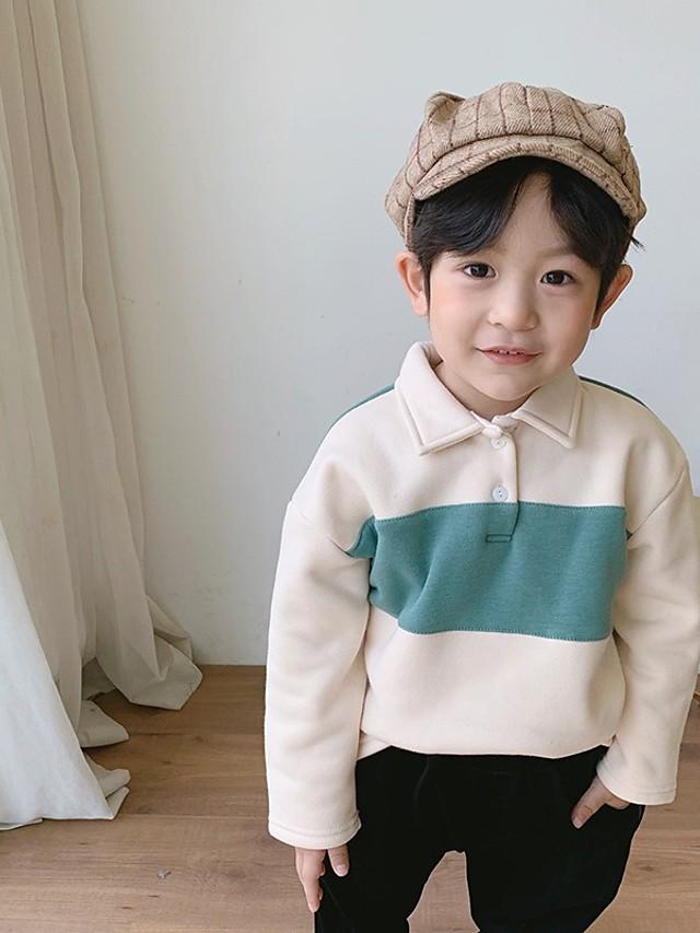 Kids Boys' Basic Striped Long Sleeve Blouse Red