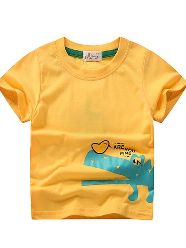 Kids Boys' Street chic Animal Short Sleeve Tee Yellow