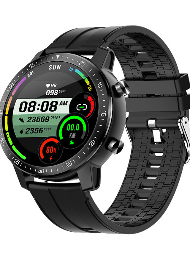 S30 Unisex Smartwatch Bluetooth Heart Rate Monitor Blood Pressure Measurement Sports Calories Burned Long Standby Stopwatch Pedometer Call Reminder Sleep Tracker Sedentary Reminder