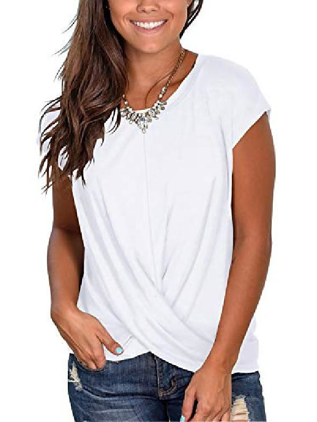 women's long sleeve winter tops  color block sweatshirts cute twist t-shirts green