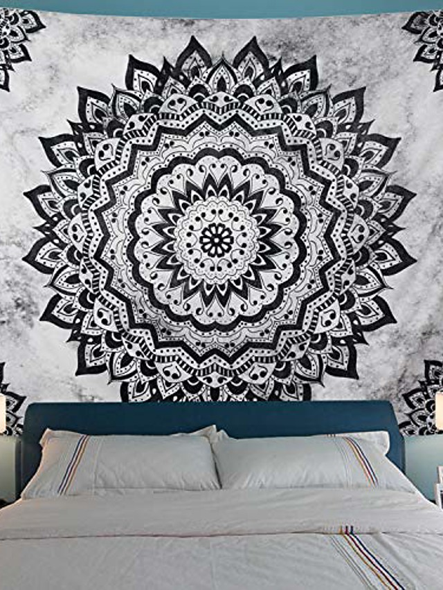 Mandala Bohemian Wall Tapestry Art Decor Blanket Curtain Hanging Home Bedroom Living Room Dorm Decoration Boho Hippie Psychedelic Floral Flower Lotus Indian