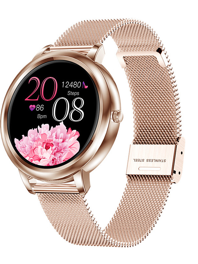 MK20 Women's Smartwatch Bluetooth Heart Rate Monitor Blood Pressure Measurement Calories Burned Health Care Blood Oxygen Monitor Pedometer Call Reminder Sleep Tracker Sedentary Reminder Find My Device