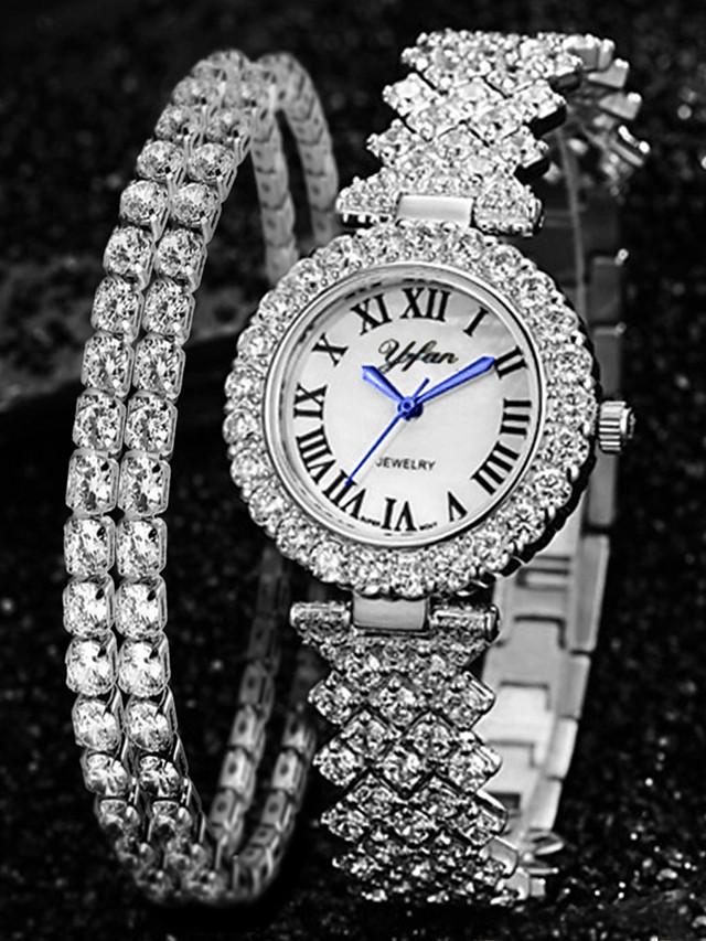 Women's Quartz Watches Quartz Modern Style Minimalist Adorable Analog Rose Gold Gold Silver / One Year / Imitation Diamond / One Year