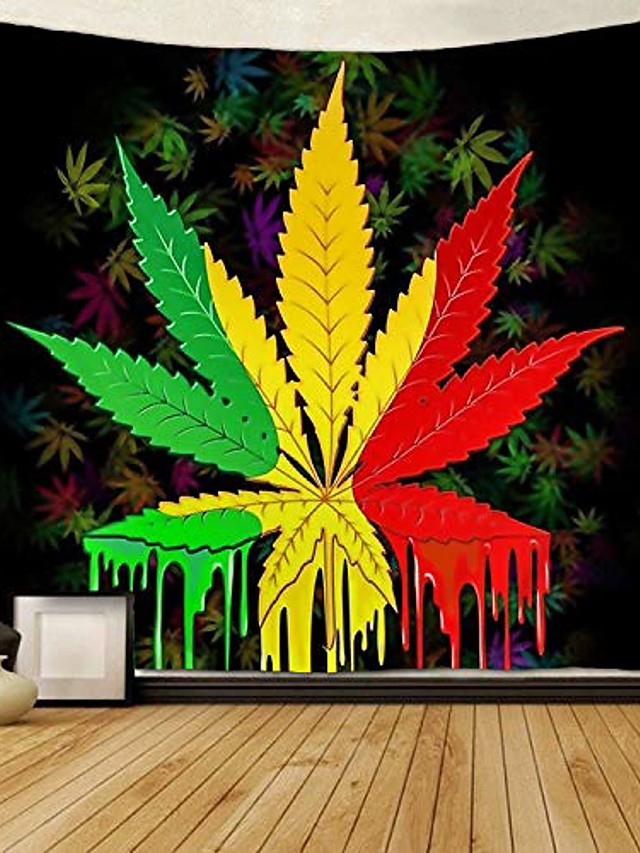 tapestry reggae rasta marijuana leaf weed tapestries wall hanging throw tablecloth 50x60 inches for bedroom living room dorm room