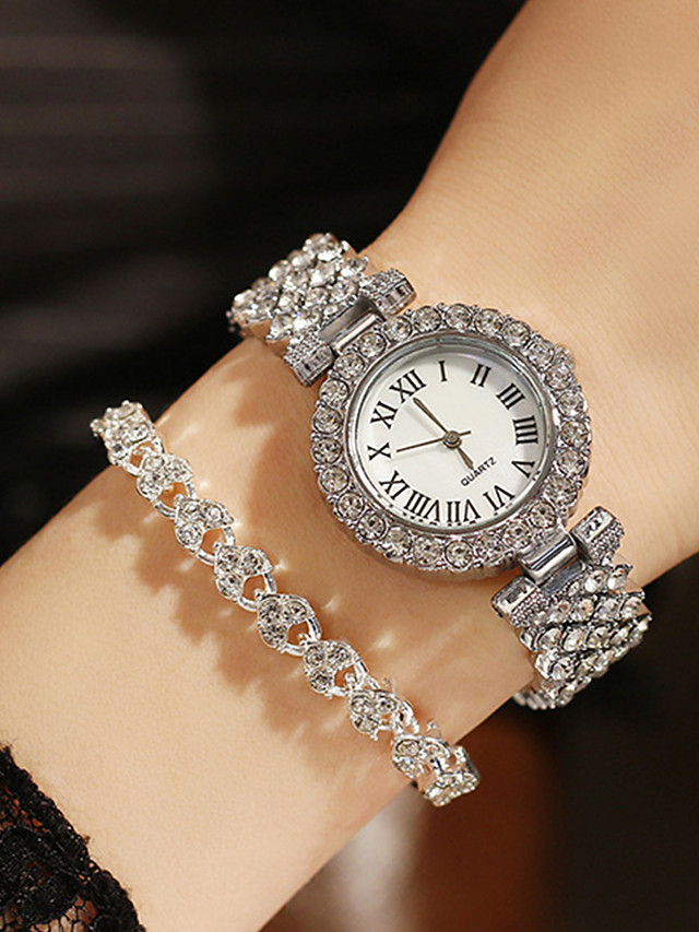 Women's Quartz Watches Quartz Modern Style Stylish Classic Chronograph Analog Rose Gold Gold Silver / Imitation Diamond / Large Dial