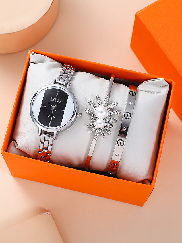 Women's Quartz Watches Quartz Modern Style Stylish Classic Chronograph Analog Silver / Stainless Steel
