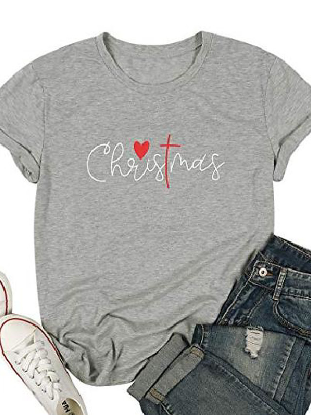 women christmas shirt funny letter print blessed t shirt short sleeve graphic tops tees