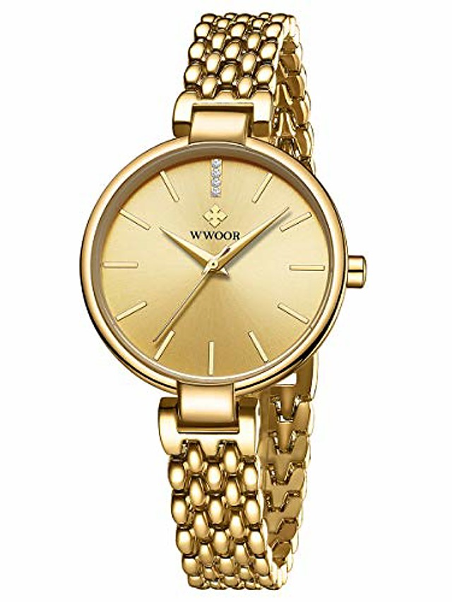 women's watch fashion analog quartz watches with stainless steel waterproof wristwatch casual watch dress bracelet watch ladies