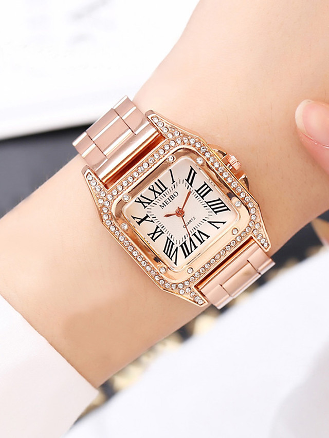 Women's Steel Band Watches Quartz Modern Style Stylish New Arrival Creative Analog Rose Gold Gold Silver