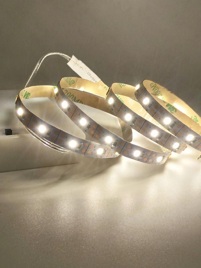 LED Light Strips USB Interface or AA Battery Box Power Supply Flexible 2835 SMD Per Meter 60 LEDs 8mm Warm White Cold White 5V LED Light Strip