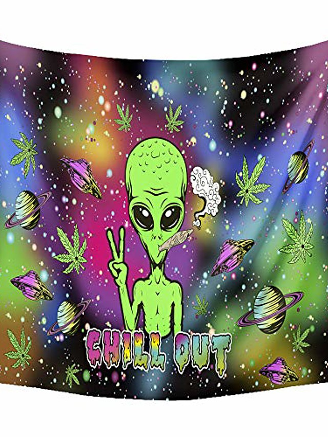 trippy tapestry wall hanging alien et psychedelic tapestry hippie for bedroom living room decor wall art