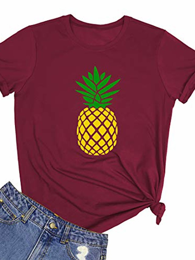 women cute graphic tees wine red small