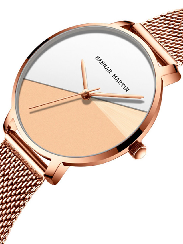 Women's Quartz Watches Quartz Stylish Fashion Adorable Analog Rose Gold Golden / Brown Golden+White / One Year / Stainless Steel
