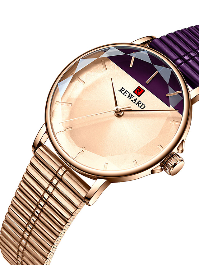 REWARD Women's Steel Band Watches Quartz Stylish Classic Water Resistant / Waterproof Analog Rose Gold Black Blue / Two Years / Stainless Steel / Japanese