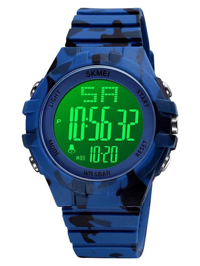 SKMEI Men's Digital Watch Digital Digital Stylish Calendar / date / day Chronograph Alarm Clock / One Year / Silicone