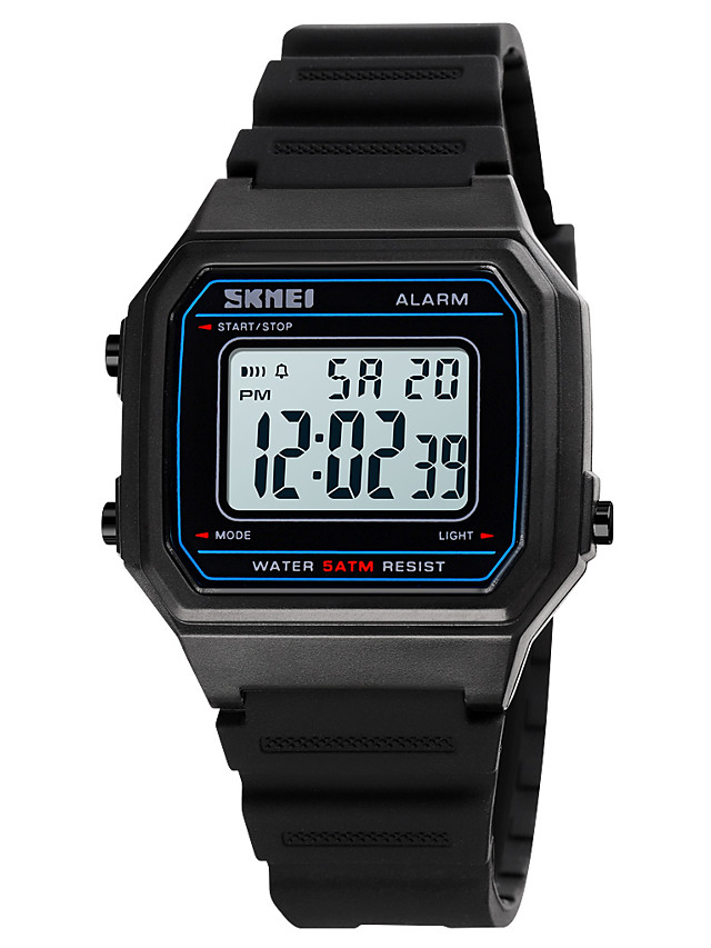 SKMEI Boys' Sport Watch Digital Digital Sporty Stylish Calendar / date / day Chronograph Alarm Clock / One Year / Silicone