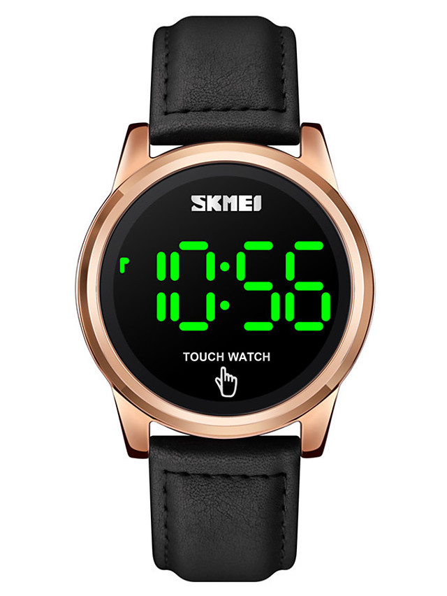 SKMEI Men's Digital Watch Digital Digital Stylish LED Light Shock Resistant Noctilucent / One Year / Leather