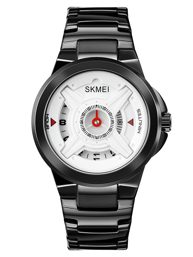 SKMEI Men's Steel Band Watches Digital Quartz Stylish Shock Resistant Large Dial / One Year / Stainless Steel / Stainless Steel
