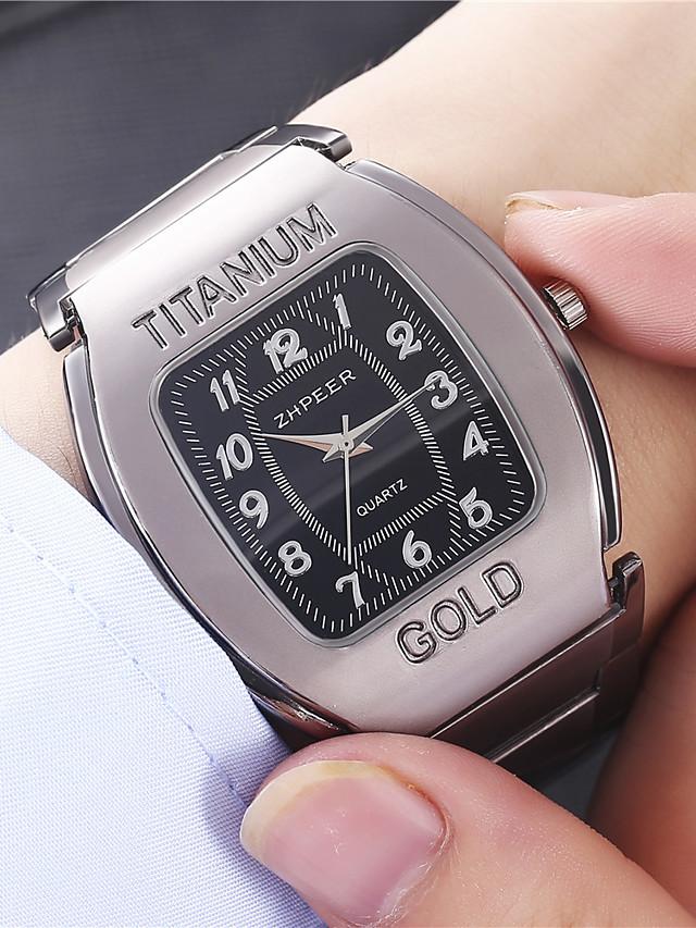 Men's Steel Band Watches Analog - Digital Quartz Geometrical Formal Style Calendar / date / day / Titanium Alloy