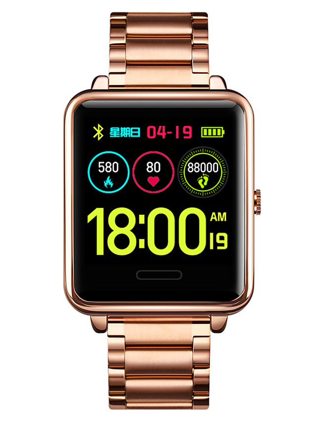 1648 Unisex Smartwatch Bluetooth Heart Rate Monitor Blood Pressure Measurement Sports Calories Burned Message Control Stopwatch Pedometer Call Reminder Sleep Tracker Alarm Clock