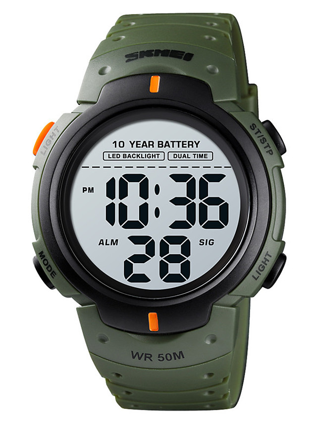 SKMEI Men's Sport Watch Digital Digital Sporty Stylish Calendar / date / day Chronograph Alarm Clock / One Year / Silicone
