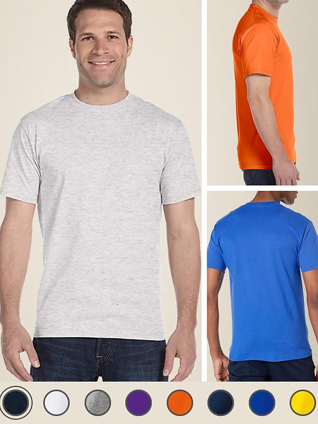 Camiseta básica litb de color caramelo para hombre, 100% algodón, camiseta clásica suave y cómoda, camiseta sencilla de verano para hombre