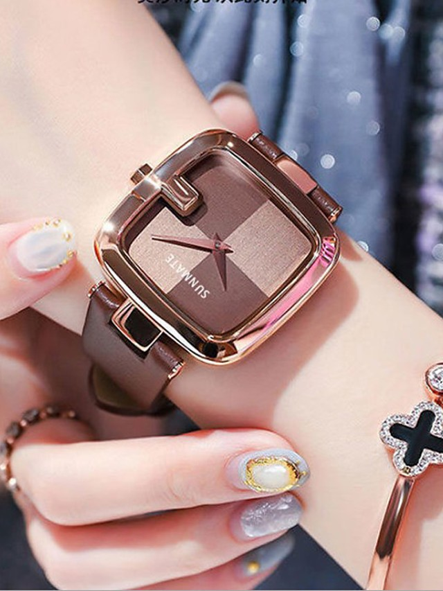 Women's Quartz Watches Analog Quartz Stylish Elegant Water Resistant / Waterproof / PU Leather