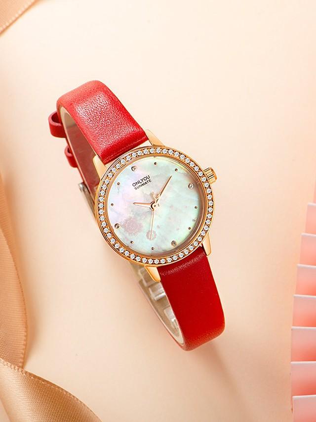 Women's Quartz Watches Analog Quartz Stylish Floral Style Elegant Water Resistant / Waterproof / PU Leather