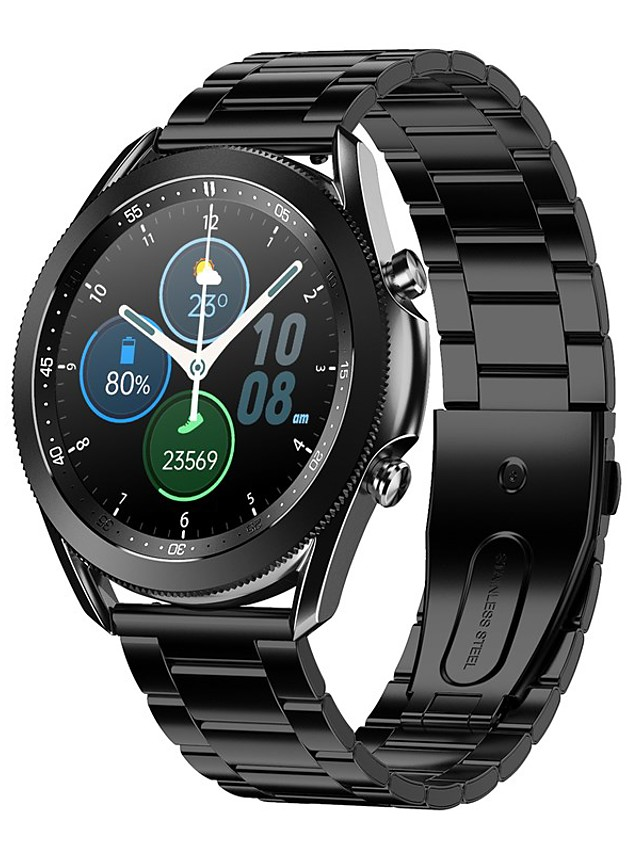AW3 Men's Smartwatch Bluetooth Heart Rate Monitor Blood Pressure Measurement Calories Burned Health Care Information ECG+PPG Stopwatch Pedometer Call Reminder Activity Tracker