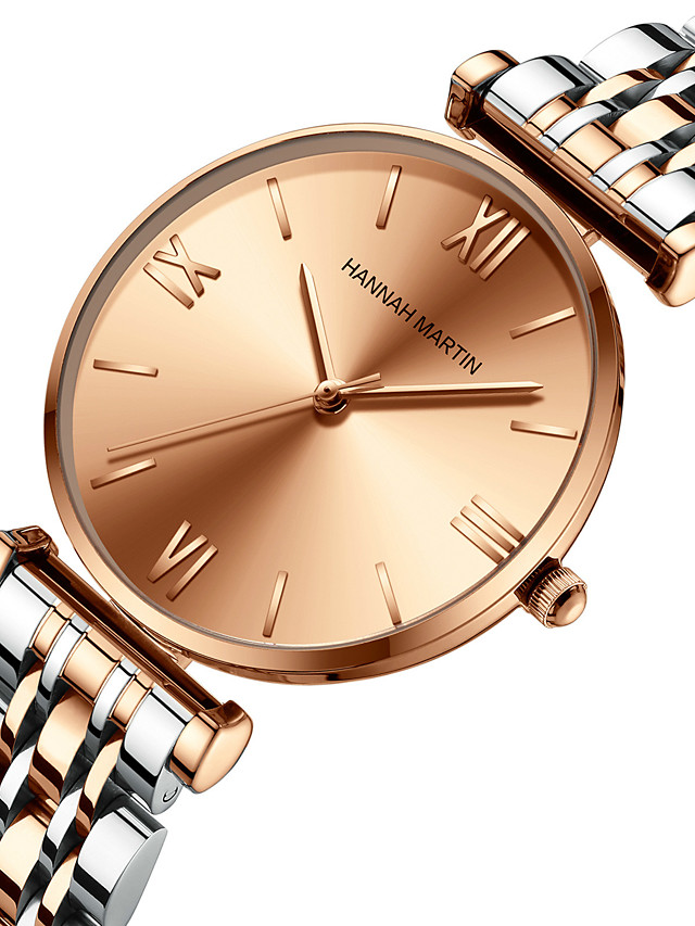 japan miyoda 2035 movement solid stainless steel band watch, silver rose gold starry ladies watch