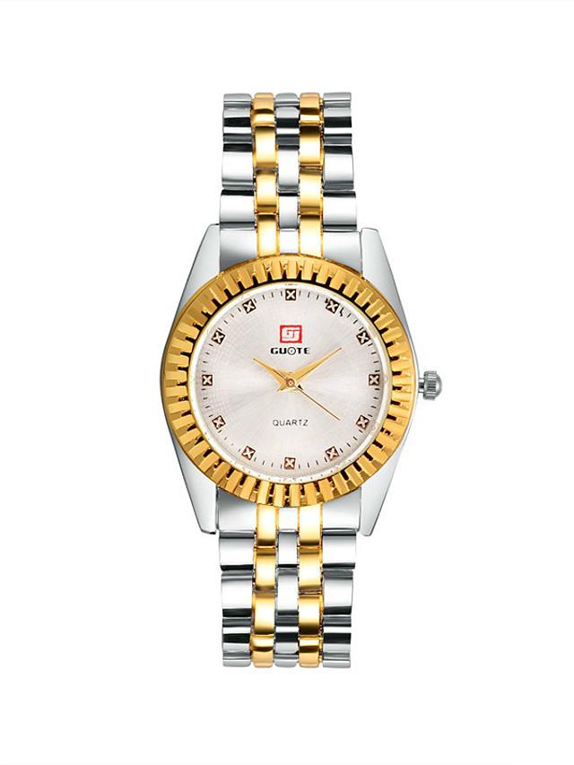 women's watch gold fashion steel belt casual quartz watch