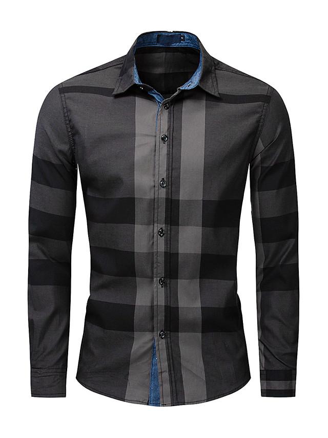 litb basic miesten ristikkoväripainike paita pitkähihaiset yrityshousut raskaat puuvillapaidat toimisto juhlapuvut päivittäin