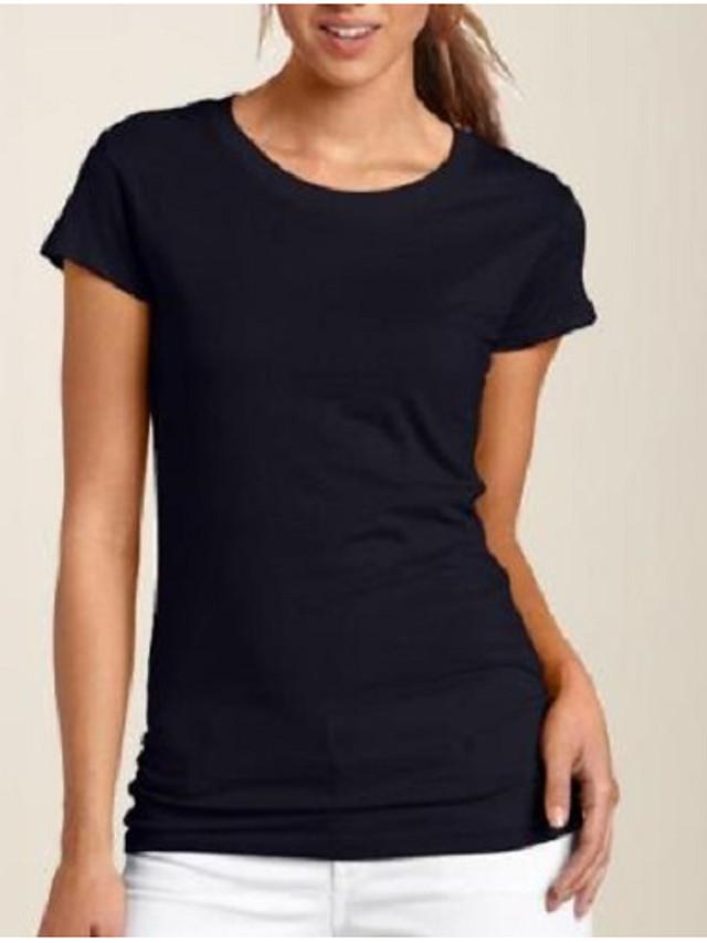 litb basic dam 100% bomull t-shirt mjuk bekväm klassisk tee enfärgad rund hals kort ärm dagliga toppar enkel manlig sommar t-shirt