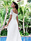 cheap Wedding Dresses-Princess A-Line Wedding Dresses Off Shoulder Sweep / Brush Train Lace Short Sleeve with 2020