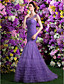 cheap Prom Dresses-Fit & Flare Prom Formal Evening Dress Scoop Neck Sweep / Brush Train Tulle with Ruched Beading Tassel 2020