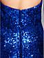 billiga Aftonklänningar-Trumpet / sjöjungfru Hjärtformad urringning Hovsläp Paljetter Glitter och glans / Beaded & Sequin Cocktailfest / Formell kväll / Helgdag Klänning 2020 med Paljett