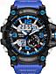 Недорогие Спортивные часы-SMAEL Муж. Универсальные Спортивные часы Модные часы Армейские часы Цифровой Защита от влаги Аналого-цифровые Черный и золотой Черный / Синий Черный / Серебристый / Два года / Японский / силиконовый