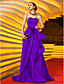 cheap Evening Dresses-A-Line Celebrity Style Prom Formal Evening Military Ball Dress Sweetheart Neckline Sleeveless Sweep / Brush Train Satin with Sash / Ribbon Pleats Appliques 2020