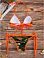 ราคาถูก ชุดบิกินี-สำหรับผู้หญิง ลวดลายดอกไม้ คล้องไหล่ ส้ม สีชมพู บิกินี่ ชุดว่ายน้ำ ลายพิมพ์ M L XL ส้ม / Sexy