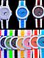 billige Dameklokker-Par Armbåndsur Quartz Silikon Svart / Hvit / Blå Kronograf Smuk Analog Armring Minimalistisk - Grønn Blå Rosa Ett år Batteri Levetid