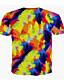 billiga T-shirts och brottarlinnen till herrar-Tryck, 3D / Djur Plusstorlekar T-shirt Herr Rund hals Lejon Purpur / Kortärmad / Sommar