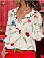 رخيصةأون بلوزات نسائية-نسائي أساسي قميص, ورد V رقبة