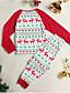 povoljno Obiteljski komplet odjeće-Obiteljski izgled Aktivan Božić Dnevno Životinja Dugih rukava Komplet odjeće Red