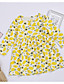お買い得  赤ちゃん ドレス-赤ちゃん 女の子 ベーシック 幾何学模様 長袖 レギュラー ドレス イエロー / 幼児