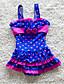 povoljno Kupaći za djevojčice-Djeca Djevojčice Ulični šik Plaža Na točkice Print Bez rukávů Kupaći kostim Navy Plava