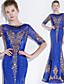 ราคาถูก Special Occasion Dresses-ทรัมเป็ต / เมอร์เมด คอซอง ลากพื้น เลื่อม แต่งตัว กับ เลื่อม โดย LAN TING Express
