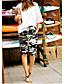 ราคาถูก กางเกงขาสั้น-สำหรับผู้หญิง พื้นฐาน / Street Chic กางเกง Chinos / กางเกงขาสั้น กางเกง - ลายพิมพ์ / Tropical คลาสสิค / กีฬา / ลายพิมพ์ สีม่วง สีเหลือง ไวน์ L XL XXL