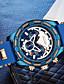 ราคาถูก นาฬิกาข้อมือสแตนเลส-สำหรับผู้ชาย นาฬิกาข้อมือสแตนเลส Swiss นาฬิกาอิเล็กทรอนิกส์ (Quartz) สแตนเลส สีสระน้ำ 50 m โครโนกราฟ Creative ดีไซน์มาใหม่ ระบบอนาล็อก ภายนอก แฟชั่น - ฟ้า สองปี อายุการใช้งานแบตเตอรี่