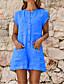 ราคาถูก จั๊มสูทและเสื้อคลุมสำหรับผู้หญิง-สำหรับผู้หญิง พื้นฐาน สีดำ ขาว ส้ม ขากว้าง Romper Onesie, สีพื้น S M L