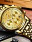ราคาถูก นาฬิกาข้อมือหรูหรา-สำหรับผู้ชาย นาฬิกาตกแต่งข้อมือ ญี่ปุ่น นาฬิกาอิเล็กทรอนิกส์ (Quartz) สแตนเลส ดำ / เงิน / ทอง 30 m ปฏิทิน โครโนกราฟ Creative ระบบอนาล็อก ความหรูหรา แฟชั่น - สีเงิน ฟ้า ทอง / เงิน / สีขาว / สองปี